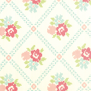 Vintage Picnic Cream Aqua Mayberry Mum