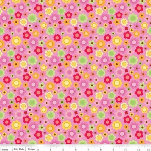 Ladybug Garden pink flowers
