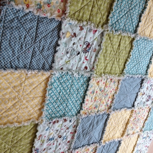 Kit ragquilt Sidewalks blå
